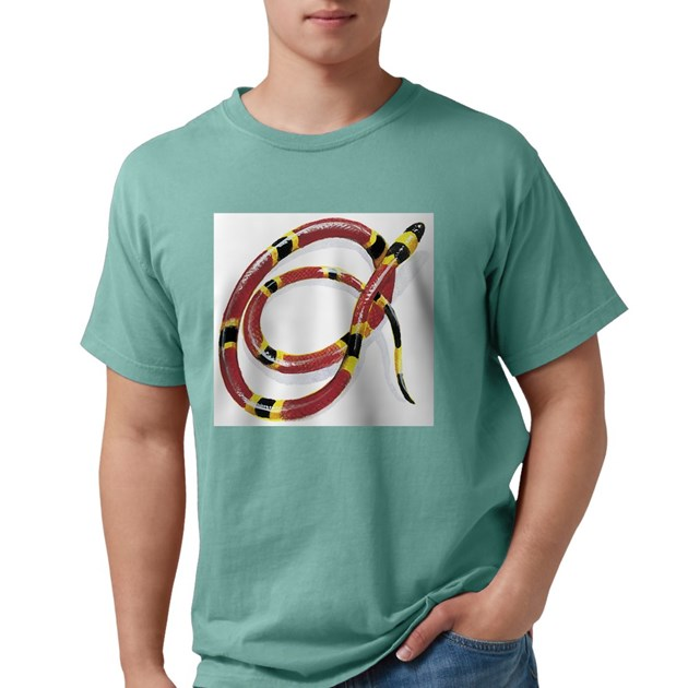 Coral Snake Ash Grey Mens Comfort Colors® Shirt Coral