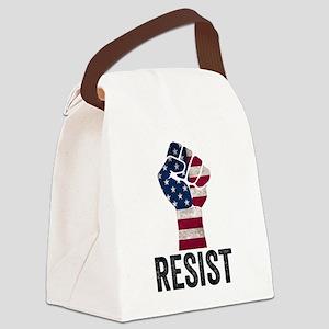 Resist Anti Trump Canvas Lunch Bag