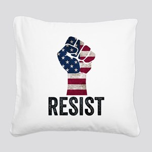 Resist Anti Trump Square Canvas Pillow
