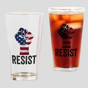 Resist Anti Trump Drinking Glass