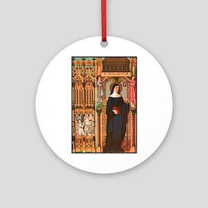 St. Scholastica Ornament (Round)