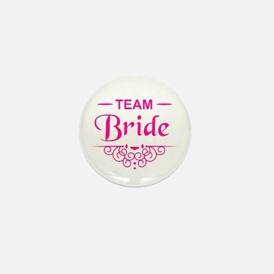 Team Bride in hot pink Mini Button