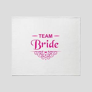 Team Bride in hot pink Throw Blanket