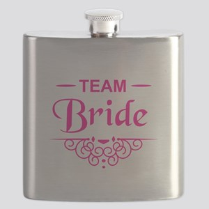 Team Bride in hot pink Flask