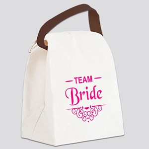 Team Bride in hot pink Canvas Lunch Bag