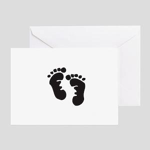 baby feet transparent Greeting Card