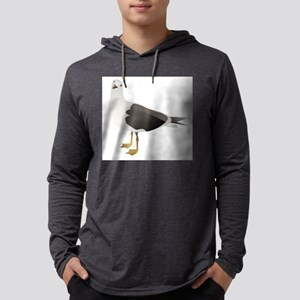 seagull drawing Mens Hooded Shirt