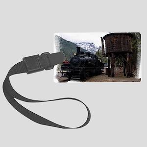 (16) shay locomotive & tower Large Luggage Tag