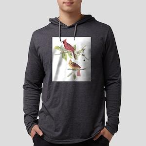 Northern Cardinal Mens Hooded Shirt