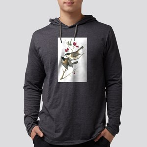 Black-capped Chickadee Mens Hooded Shirt
