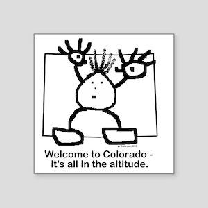 """Colorado altitude Square Sticker 3"""" x 3"""""""