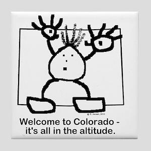 Colorado altitude Tile Coaster