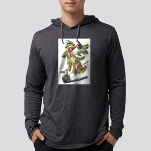 Ruby-throated Hummingbird Mens Hooded Shirt