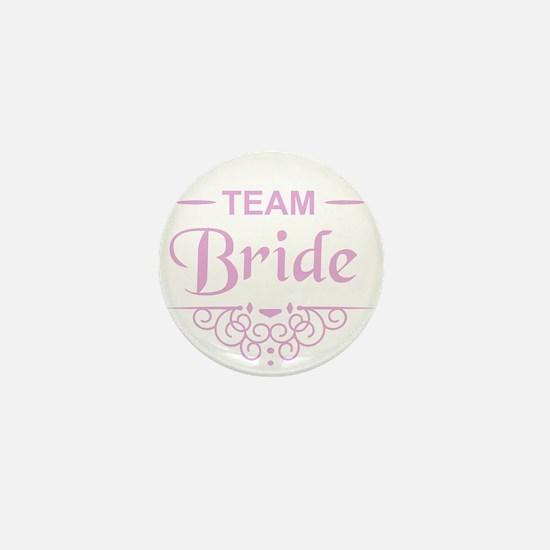 Team Bride in pink Mini Button