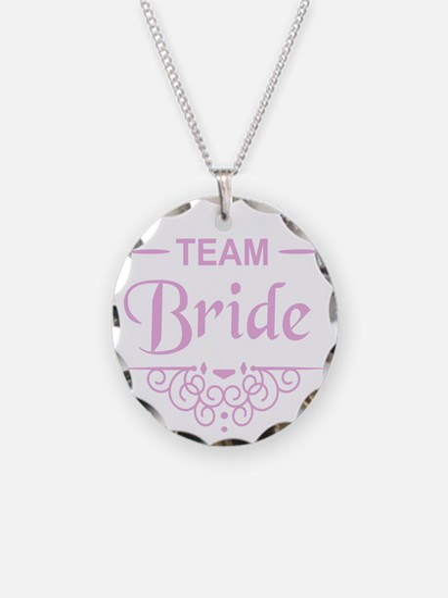 Team Bride in pink Necklace