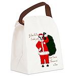 Santa Cows (Santa Claus) Canvas Lunch Bag