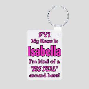 Isabella Aluminum Photo Keychain