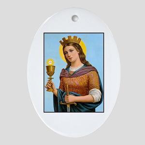 St. Barbara Oval Ornament