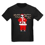 Santa Cows (Santa Claus) Kids Dark T-Shirt