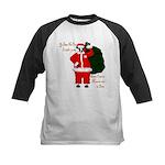 Santa Cows (Santa Claus) Kids Baseball Jersey
