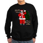 Santa Cows (Santa Claus) Sweatshirt (dark)