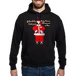 Santa Cows (Santa Claus) Hoodie (dark)