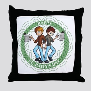 Boondock Saints St. Pattys Throw Pillow