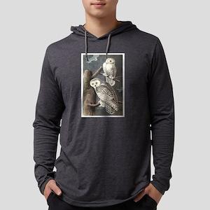 Snowy Owls Mens Hooded Shirt
