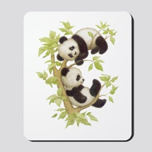 Pandas Playing In A Tree Mousepad