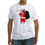 Santa Cows (Santa Claus) Fitted T-Shirt