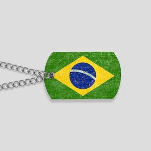vintage-brazil-flag Dog Tags