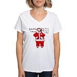 Santa Cows (Santa Claus) Women's V-Neck T-Shirt