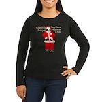 Santa Cows (Santa Claus) Women's Long Sleeve Dark