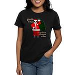 Santa Cows (Santa Claus) Women's Dark T-Shirt