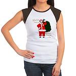 Santa Cows (Santa Claus) Women's Cap Sleeve T-Shir