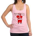 Santa Cows (Santa Claus) Racerback Tank Top