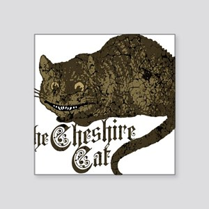 "cheshire-cat_dark Square Sticker 3"" x 3"""