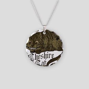 cheshire-cat_dark Necklace Circle Charm