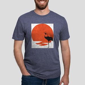 crane bird Mens Tri-blend T-Shirt