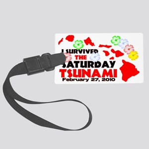 tsu_flowers2_lt Large Luggage Tag