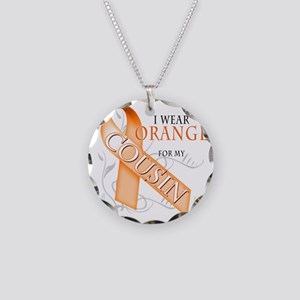 I Wear Orange for my Cousin Necklace Circle Charm
