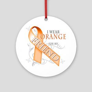 I Wear Orange for my Friend Round Ornament