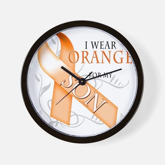 I Wear Orange for my Son Wall Clock
