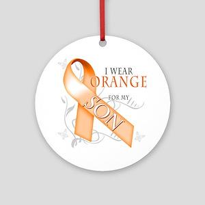 I Wear Orange for my Son Round Ornament