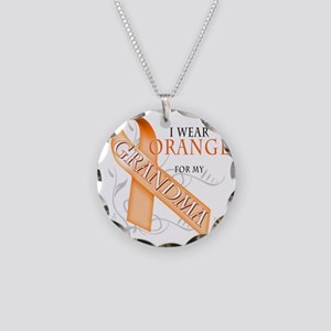 I Wear Orange for my Grandma Necklace Circle Charm