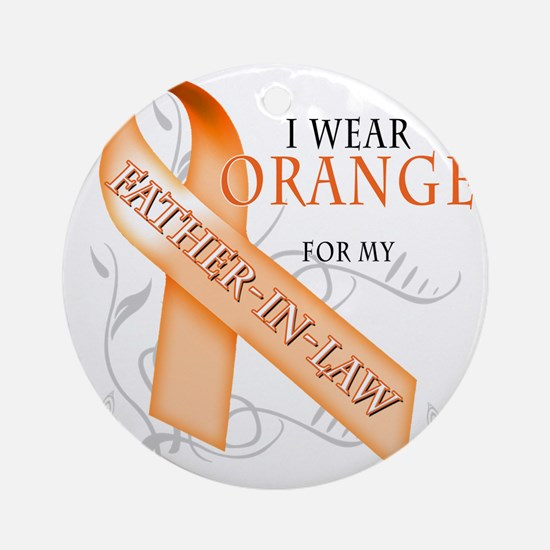 I Wear Orange for my Father-In-Law Round Ornament