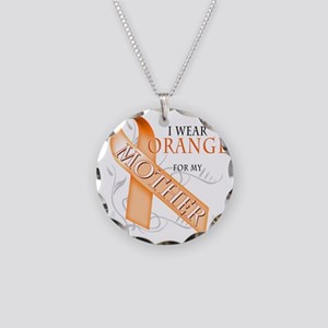 I Wear Orange for my Mother Necklace Circle Charm