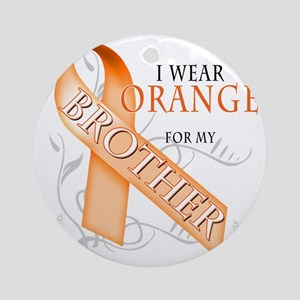 I Wear Orange for my Brother Round Ornament