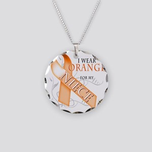 I Wear Orange for my Niece Necklace Circle Charm
