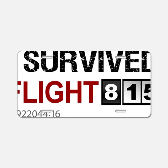 I-survived-flight-815-(whit Aluminum License Plate